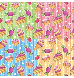 Sweets patterns vector
