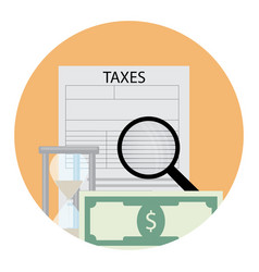 Tax analysis icon vector
