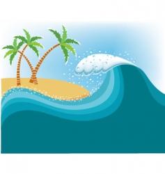 tropical island seascape vector image