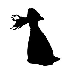 witchcraft witch magical silhouette fantasy vector image
