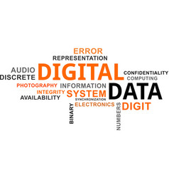 Word cloud - digital data vector