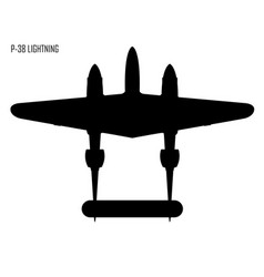 World war ii lockheed p 38 lightning vector