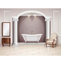 Bathroom interior realistic design vector