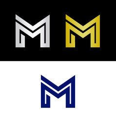 Geometric letter m vector