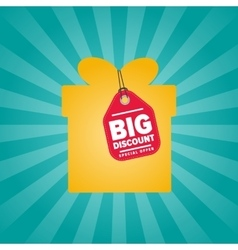 Big discount isolated sale sticker on box vector