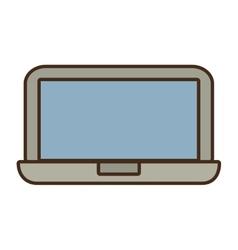 Cartoon laptop device technology digital icon vector