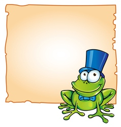 party frog with background vector image