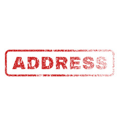 Address rubber stamp vector