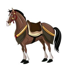 Horse of samurai animal warhorse oriental vector