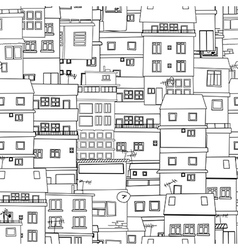 Seamless city sketch vector