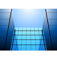 Glass office building vector