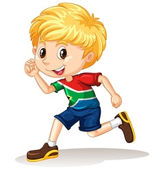 South african boy running vector