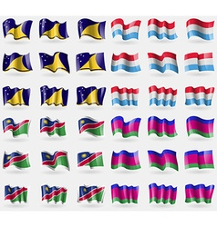 Tokelau luxembourg namibia kuban republic set of vector