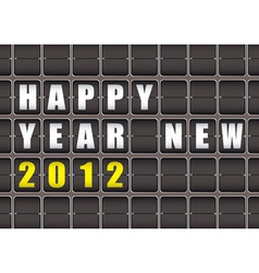 happy new year railway ticker board vector image