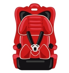 Red child car seat vector