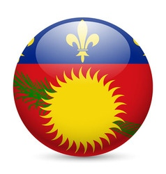 A badge in colours of guadeloupe flag vector image