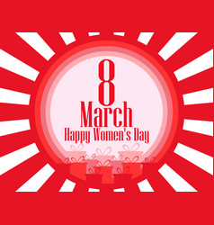 8 march day international womens day background vector