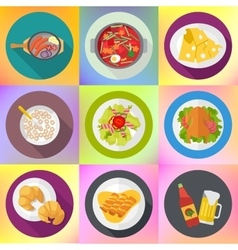 Restaurant homemade food signs set vector