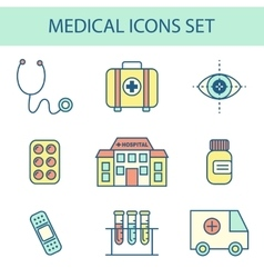 Flat line medical icon vector
