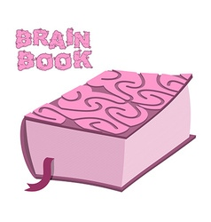 Brain book large thick encyclopedia cover cerebral vector
