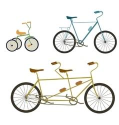 Children bicycle set vector