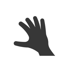 Human hand silhouette icon gesture design vector