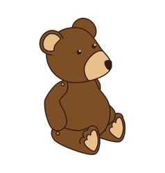 Teddy bear kid icon vector