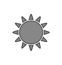 Sun icon symbol black sunrise isolated white vector
