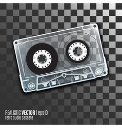Retro audio cassete vector