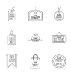 Big sale icons set outline style vector image vector image