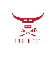bull BBQ rustic concept design template vector image vector image
