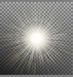 burst effects on transparent background eps 10 vector image