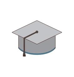 Cap graduation class school icon vector