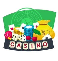 Casino concept design vector image