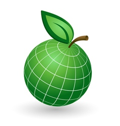 Earth Globe as Apple Symbol vector image