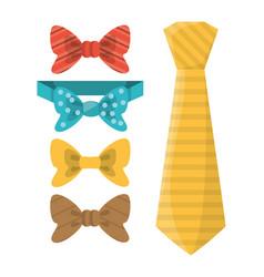 Elegants ties to used in specials days vector