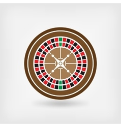European roulette wheel casino symbol vector