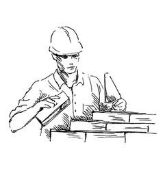 Hand sketch mason vector