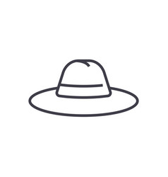 hat line icon sign on vector image vector image