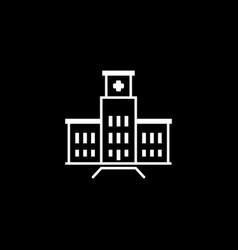 Hospital complex icon flat design vector