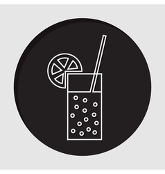 Information icon - carbonated drink straw citrus vector