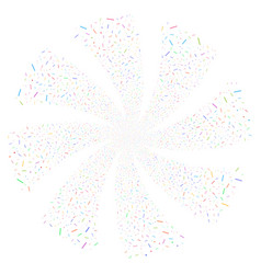 Lines and dots fireworks swirl rotation vector