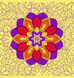 Mandala floral seamless pattern vector