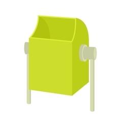 Outdoor green bin icon cartoon style vector image vector image