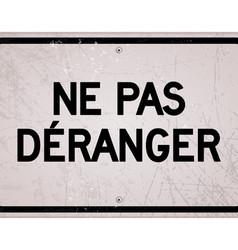 Rectangular ne pas deranger sign vector