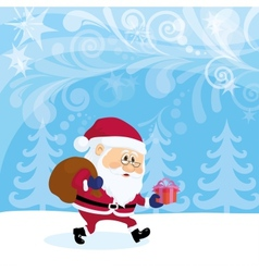 Santa claus in forest vector