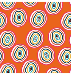 seamless pattern with doodle circles vector image vector image