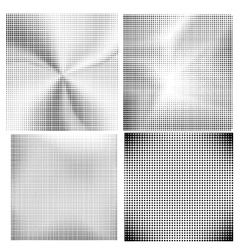 Set of Halftone Dots vector image
