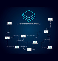 Stratis blockchain cryptocurrency background style vector