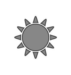 Sun icon Symbol black sunrise isolated white vector image vector image